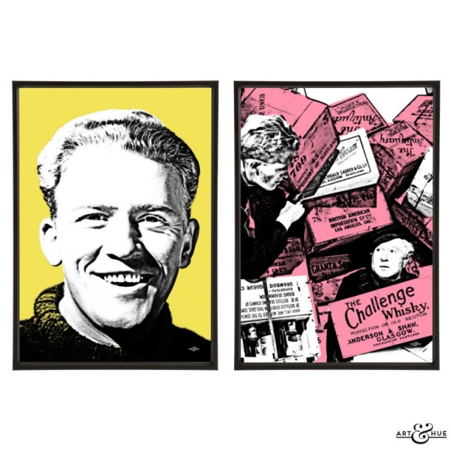 Whisky Galore! Pair of pop art prints by Art & Hue