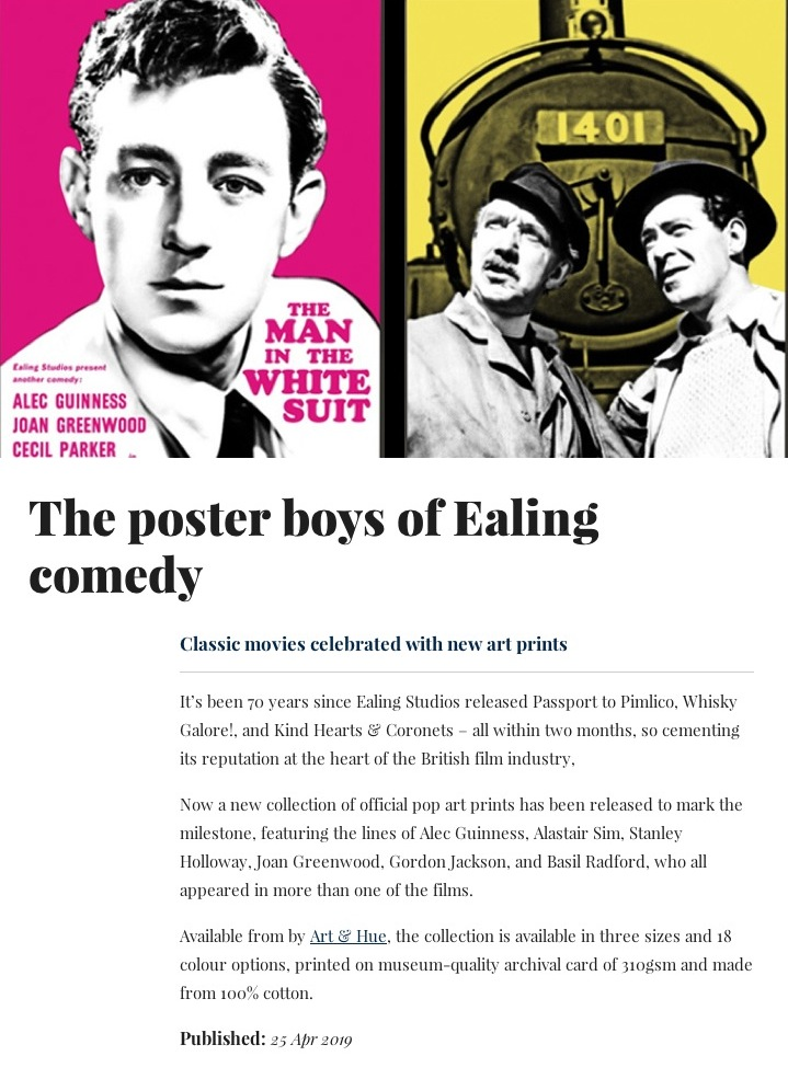 The poster boys of Ealing comedy - Classic movies celebrated with new art prints