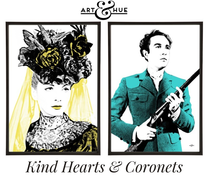 Kind Hearts & Coronets pop art prints pair by Art & Hue