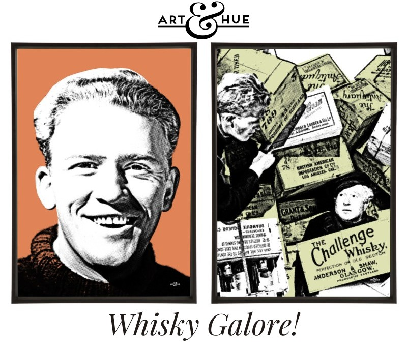Whisky Galore pair of stylish pop art prints by Art & Hue