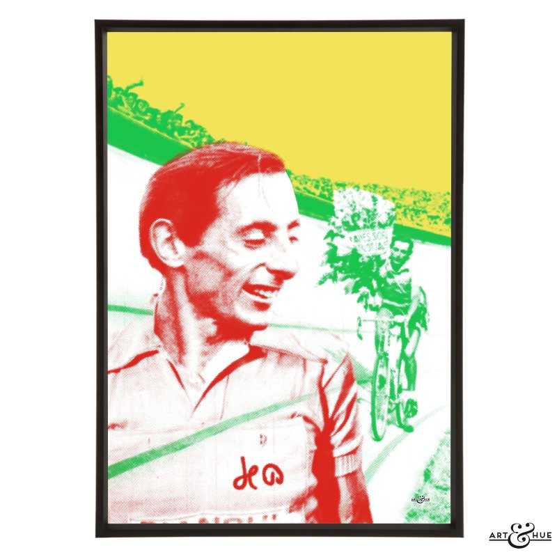 Fausto Coppi pop art print by Art & Hue