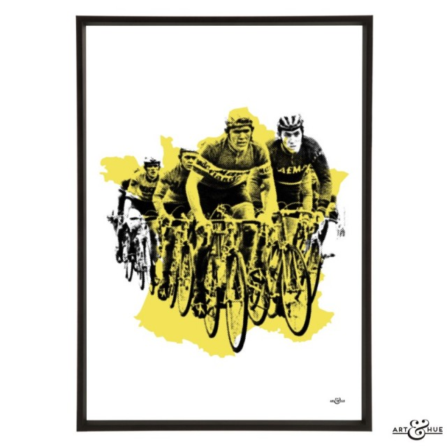 France Tour pop art print by Art & Hue