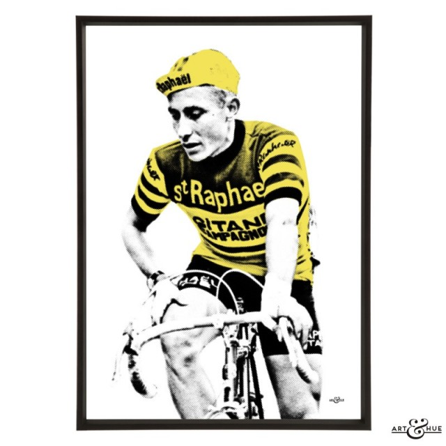 Jacques Anquetil pop art by Art & Hue