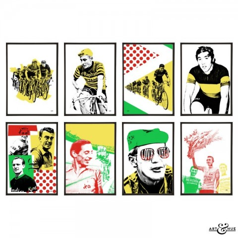 Le Tour Group of pop art prints by Art & Hue