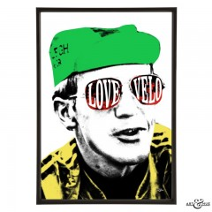 Love Velo pop art print by Art & Hue