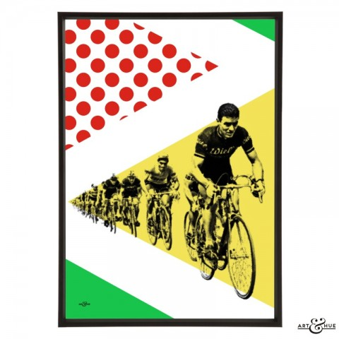 Peloton pop art print by Art & Hue
