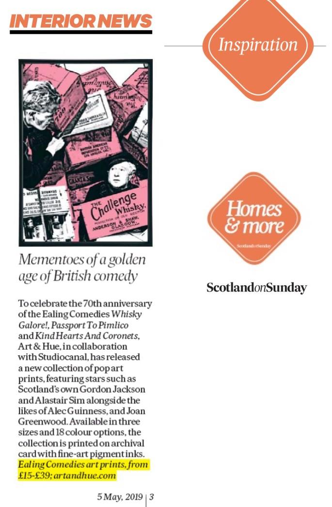 Scotland On Sunday Interior News Ealing Comedies