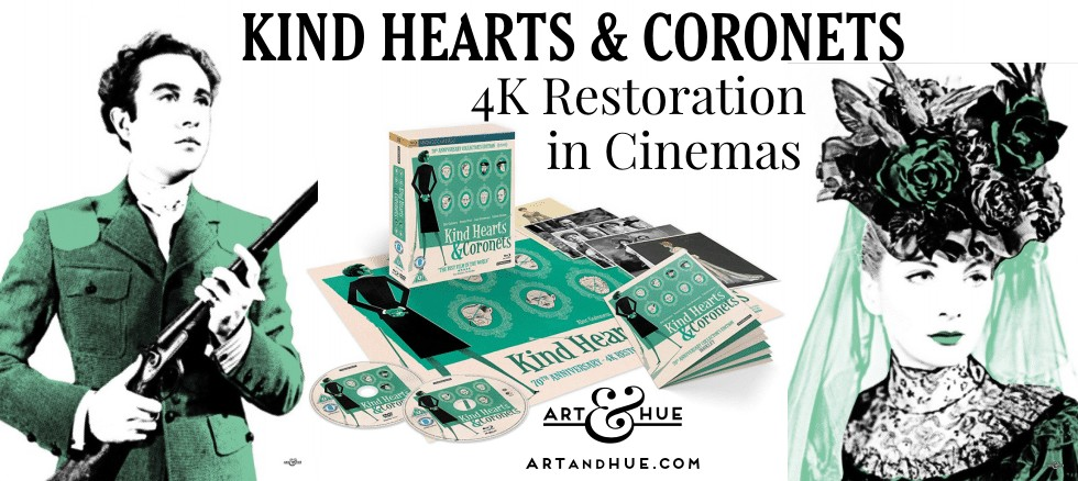 70 years of Kind Hearts & coronets by Art & Hue 4k blu-ray
