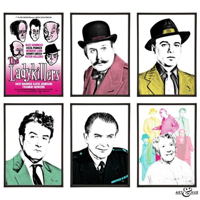 The Ladykillers group of stylish pop art prints by Art & Hue
