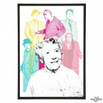 Ladykillers Gang stylish pop art print by Art & Hue