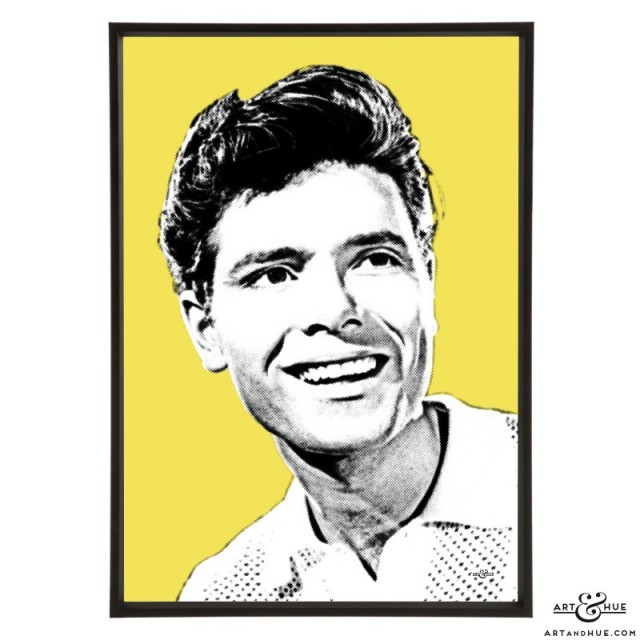 Cliff Richard pop art prints by Art & Hue