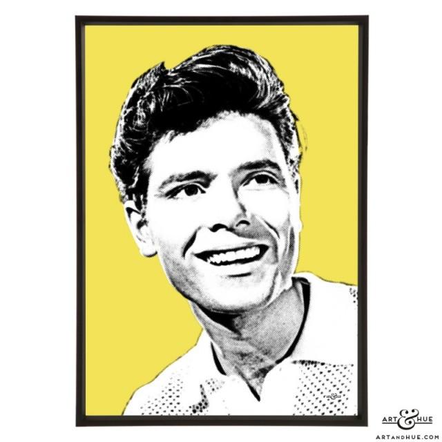 Cliff Richard pop art prints by Art & Hue