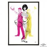 Cliff's Pals pop art print by Art & Hue