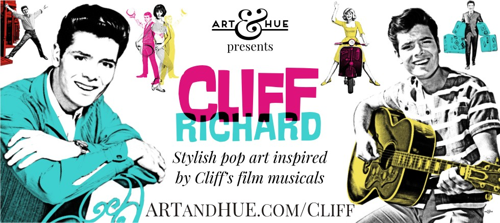 Art & Hue presents Cliff Richard pop art prints