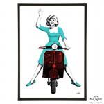 Scooter Susan pop art print by Art & Hue