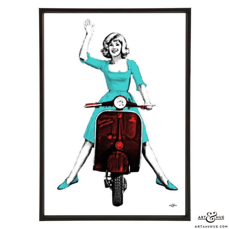 Scooter Susan pop art print by Art & Hue