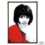 Una Stubbs pop art print by Art & Hue