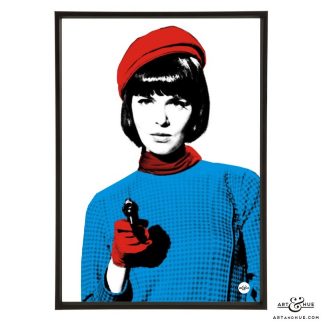 Barbara Feldon pop art print of the Get Smart character Agent 99 by Art & Hue