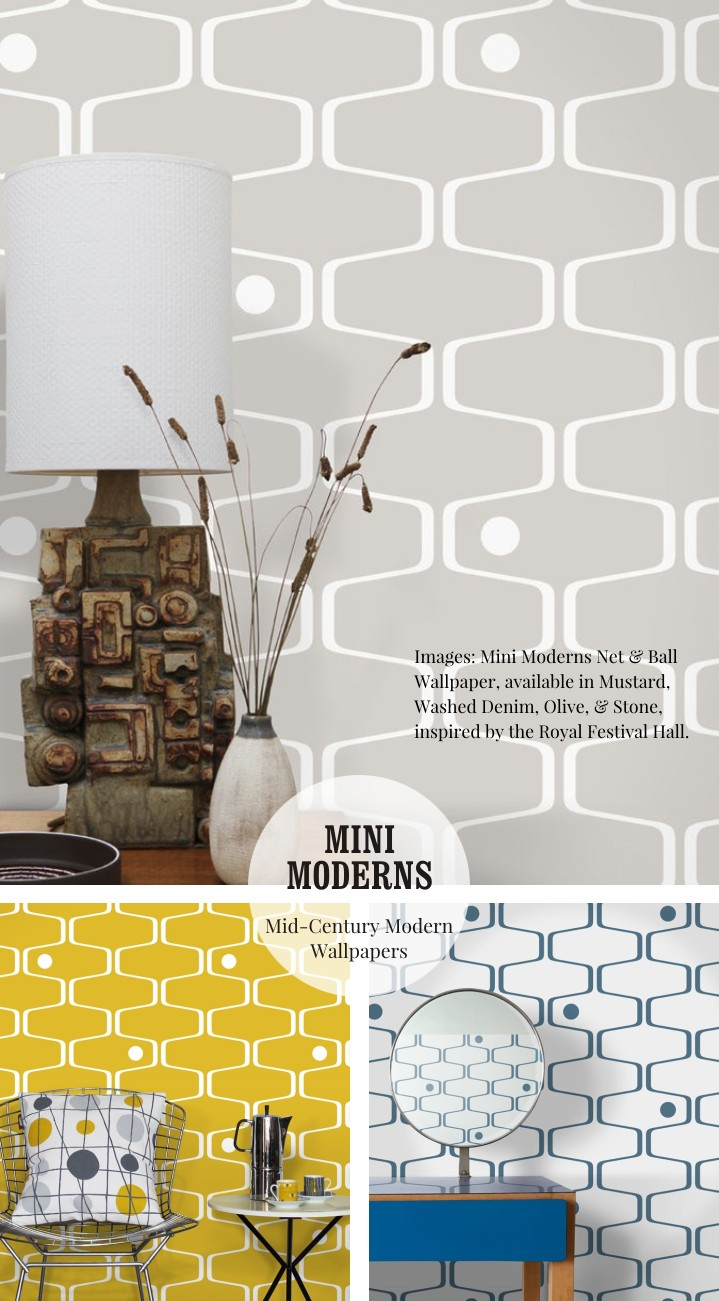 Net and Ball wallpaper by Mini Moderns