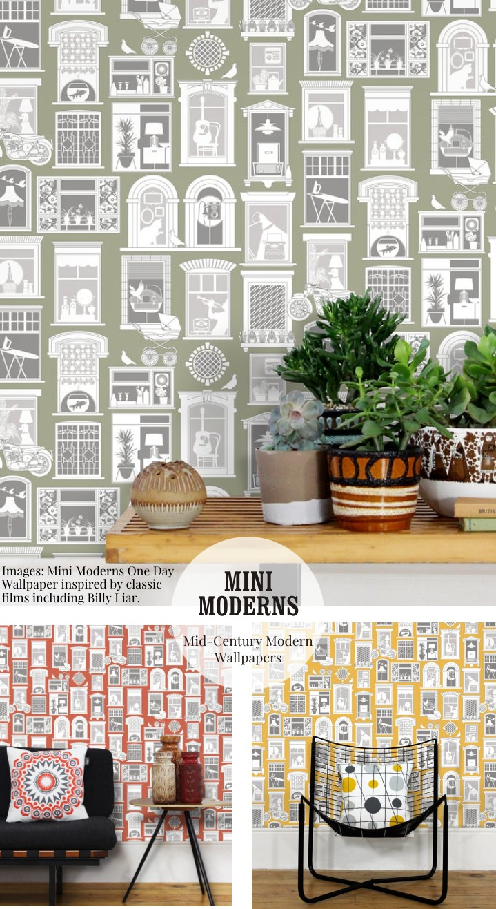 One Day Wallpaper by Mini Moderns