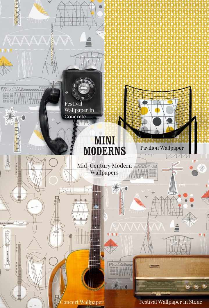 Southbank inspired wallpapers by Mini Moderns