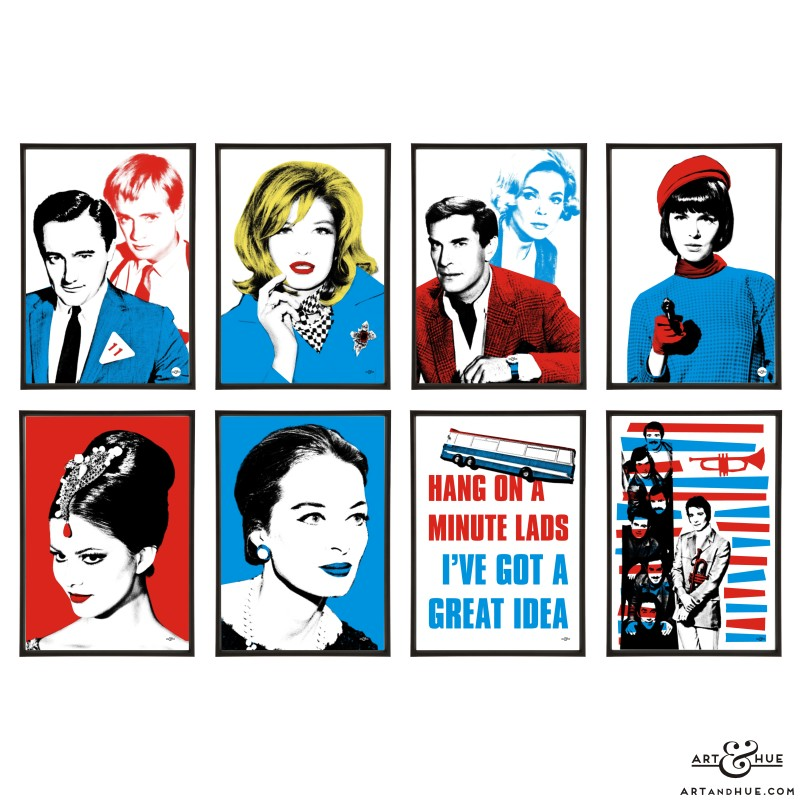 1960s Capers group of pop art prints by Art & Hue