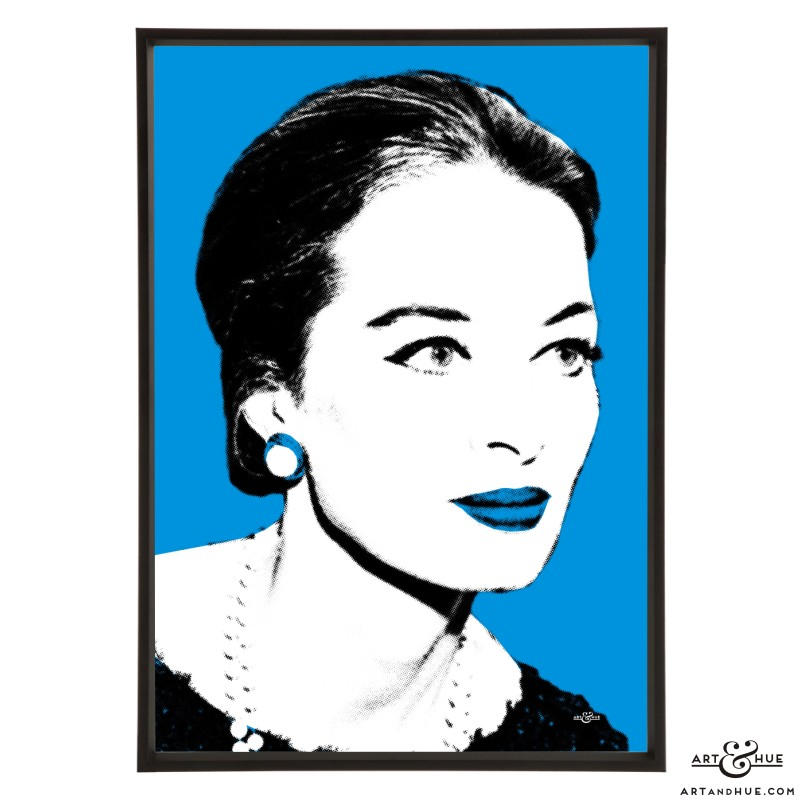 Capucine pop art print of The Pink Panther actress by Art & Hue