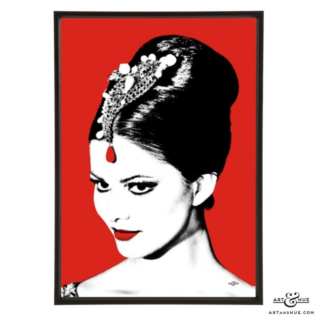 Claudia Cardinale pop art print of The Pink Panther actress by Art & Hue
