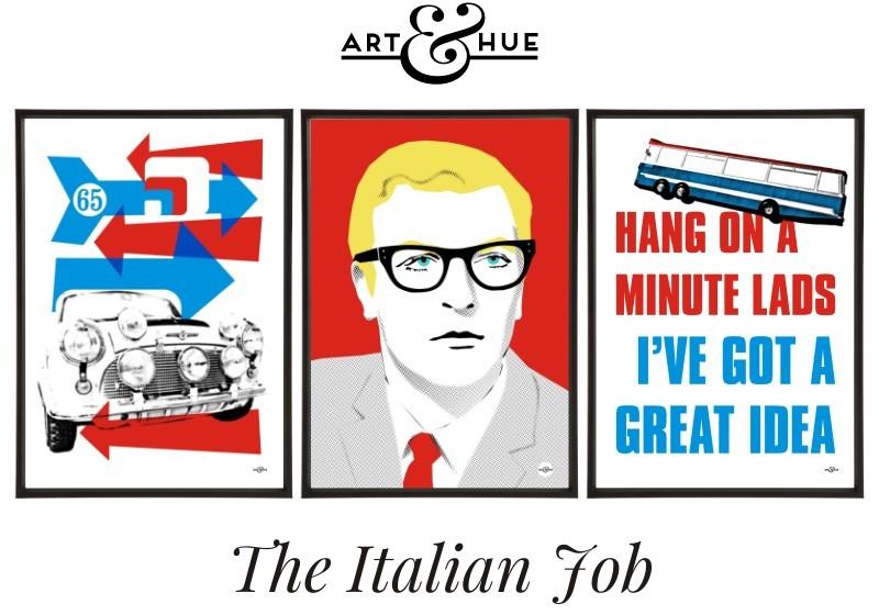 The Italian Job trio of pop art prints by Art & Hue