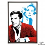 Martin Landau & Barbara Bain pop art print of Mission Impossible & Space: 1999 stars