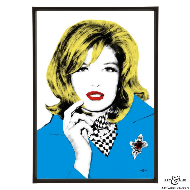 Monica Vitti pop art of the Modesty Blaise actress by Art & Hue