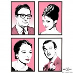 The Pink Panther Group of pop art prints by Art & Hue