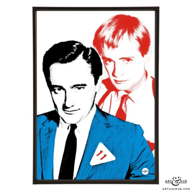 Robert Vaughn & David McCallum pop art of The Man From UNCLE stars by Art & Hue