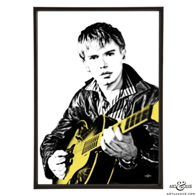 Adam Faith pop art print by Art & Hue
