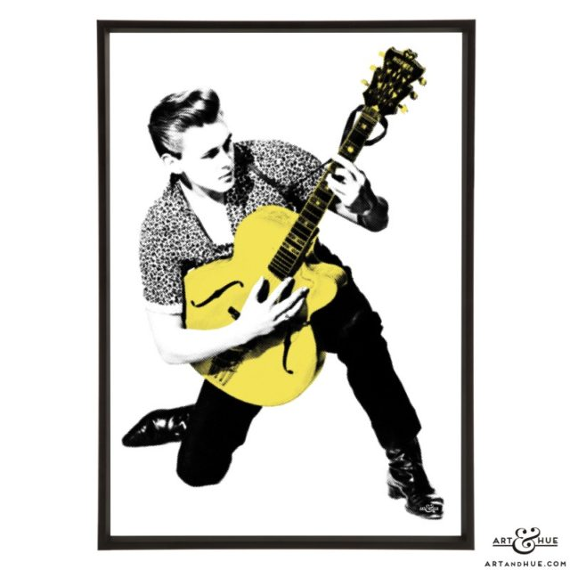 Billy Fury pop art print by Art & Hue