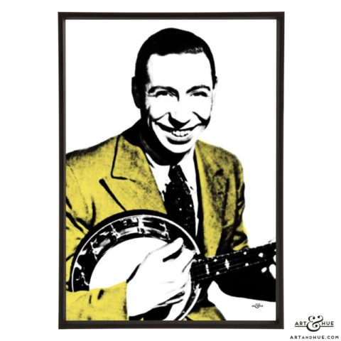 George Formby pop art print by Art & Hue