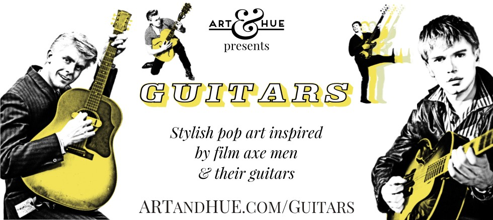 Art & Hue presents Guitars stylish pop art prints