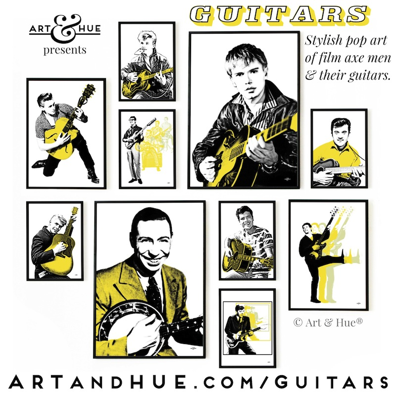 Art & Hue's Guitars collection of pop art prints