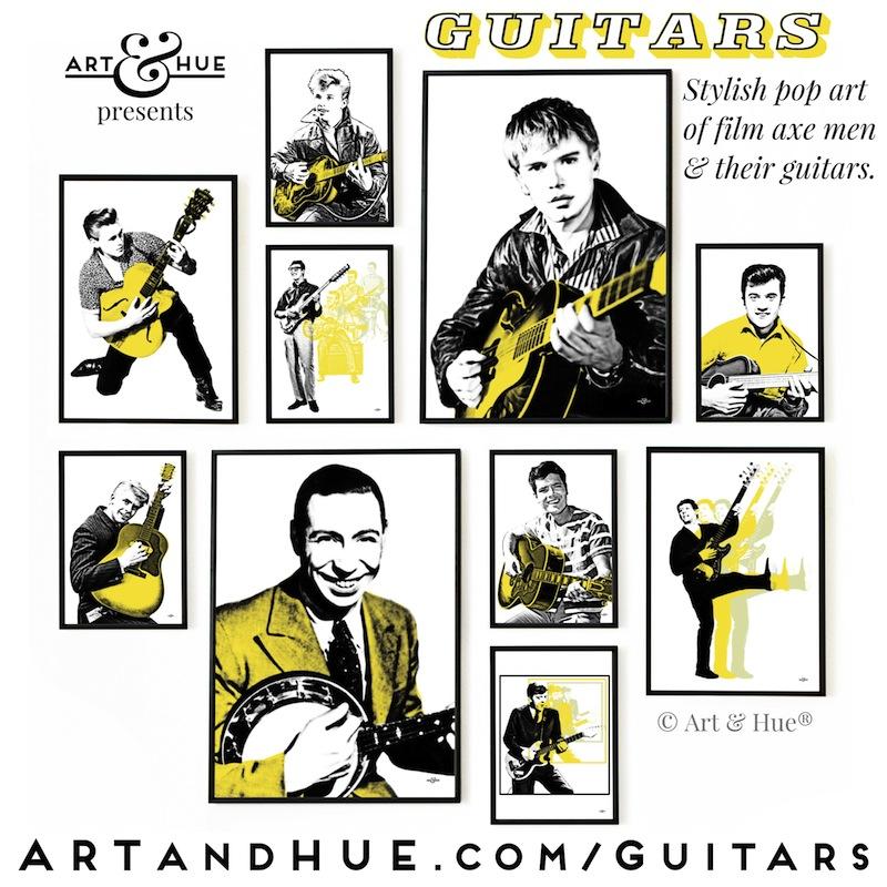 Art & Hue's Guitars collection of pop art prints