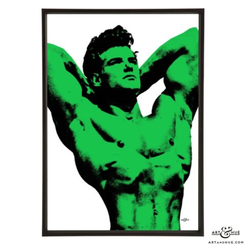 Steve Reeves stylish pop art print by Art & Hue