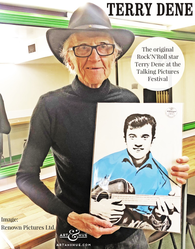 Terry Dene with pop art