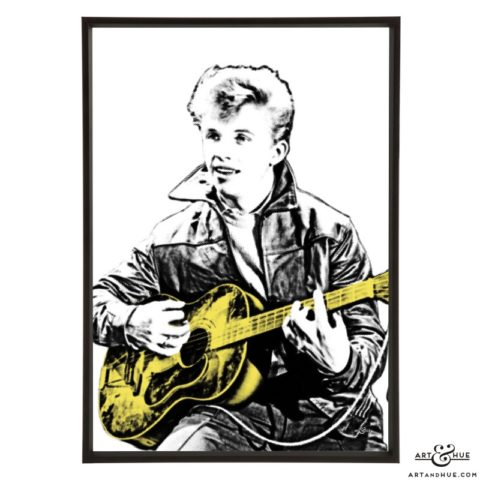 Tommy Steele pop art print by Art & Hue