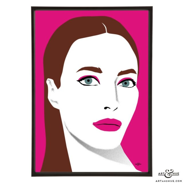 Christy Turlington stylish pop art illustration by Art & Hue