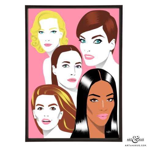 Cover Girls pop art print by Art & Hue