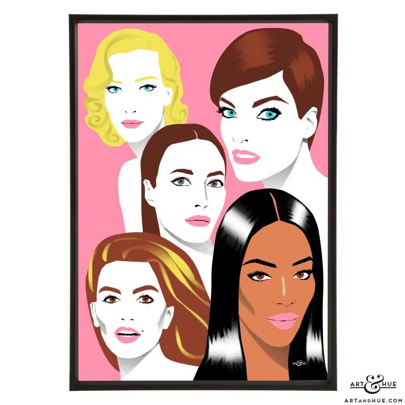 Cover Girls pop art print by Art & Hue