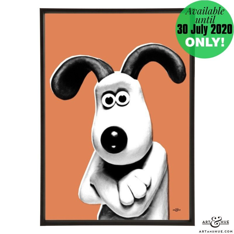 Gromit stylish pop art print by Art & Hue with Aardman