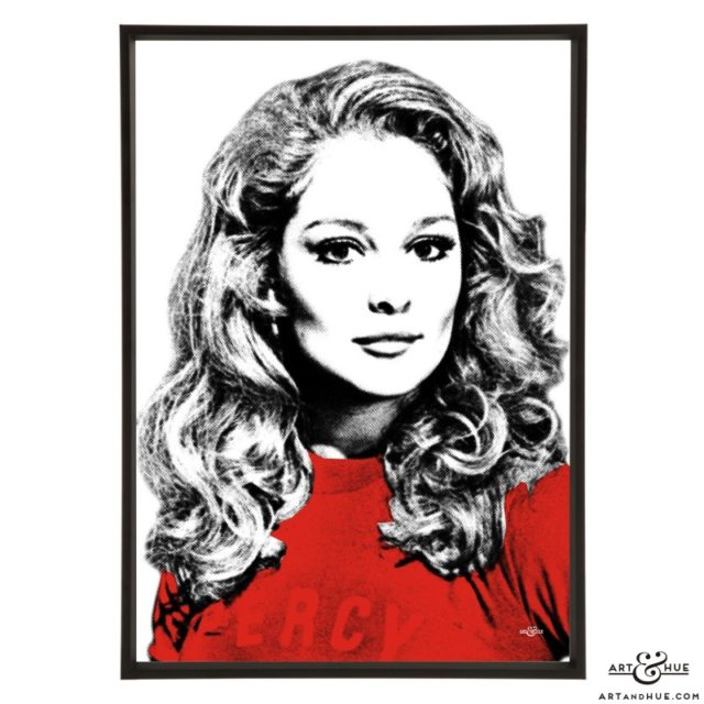 Jenny Hanley stylish pop art print by Art & Hue