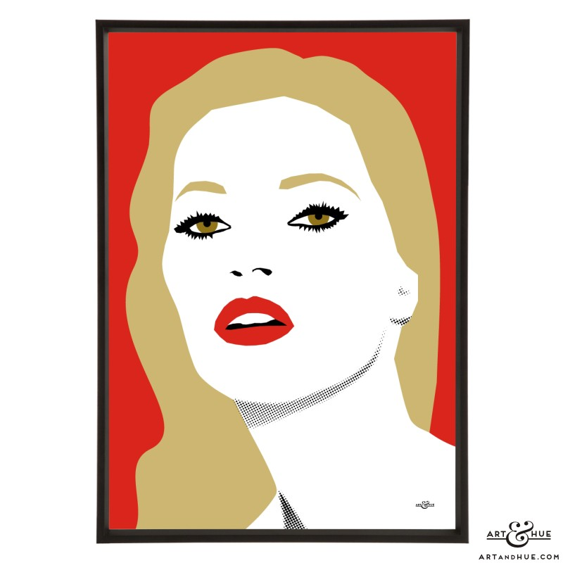 Kate Moss stylish pop art illustration by Art & Hue