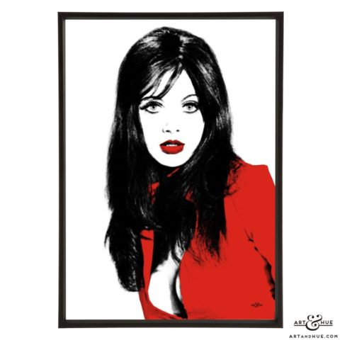 Madeline Smith stylish pop art print by Art & Hue