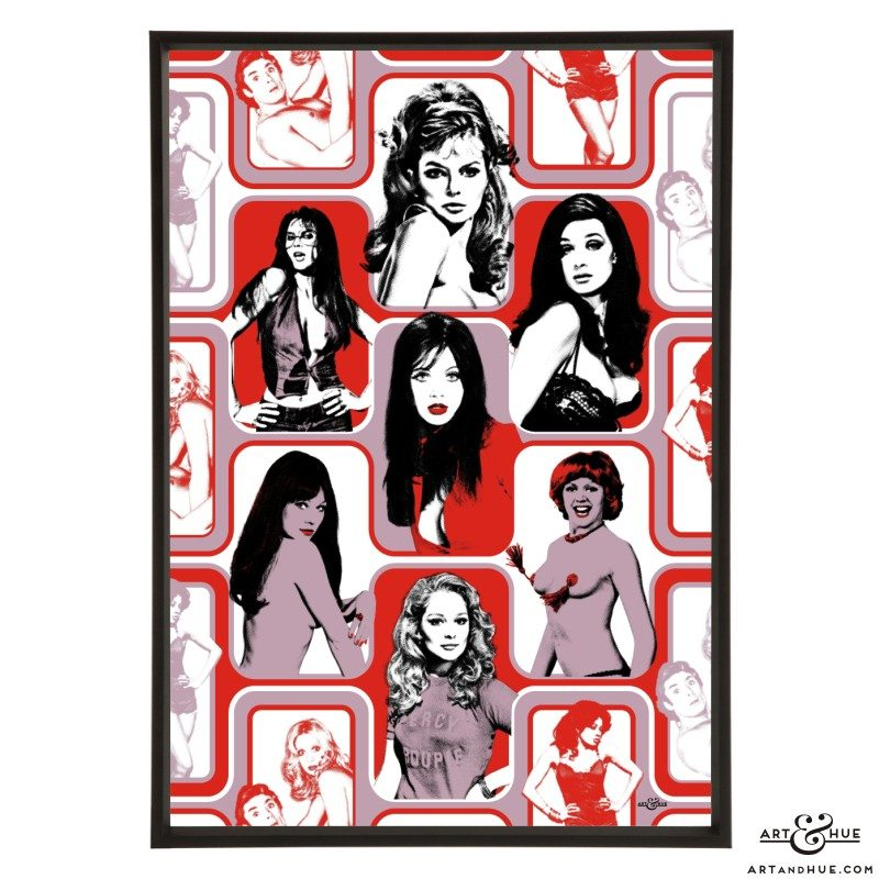 Saucy Wallpaper stylish pop art print by Art & Hue